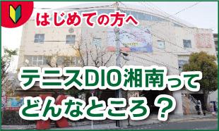 はじめての方へ。テニスDIO湘南ってどんなところ?